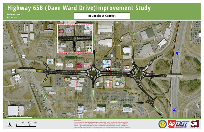 Highway 65B (Dave Ward Drive)Improvement Study - Roundabout Concept.png