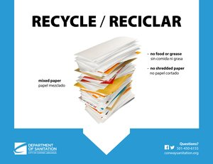 Recycle At School & Office - Mixed Paper / Papel Mezclado Thumbnail