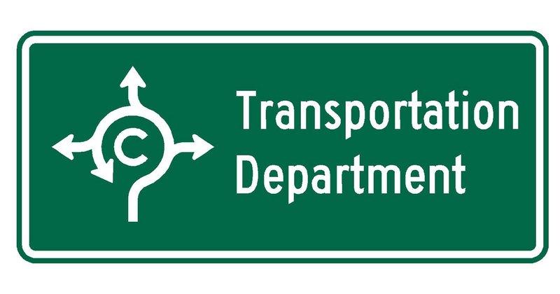 Transportation Department Sign